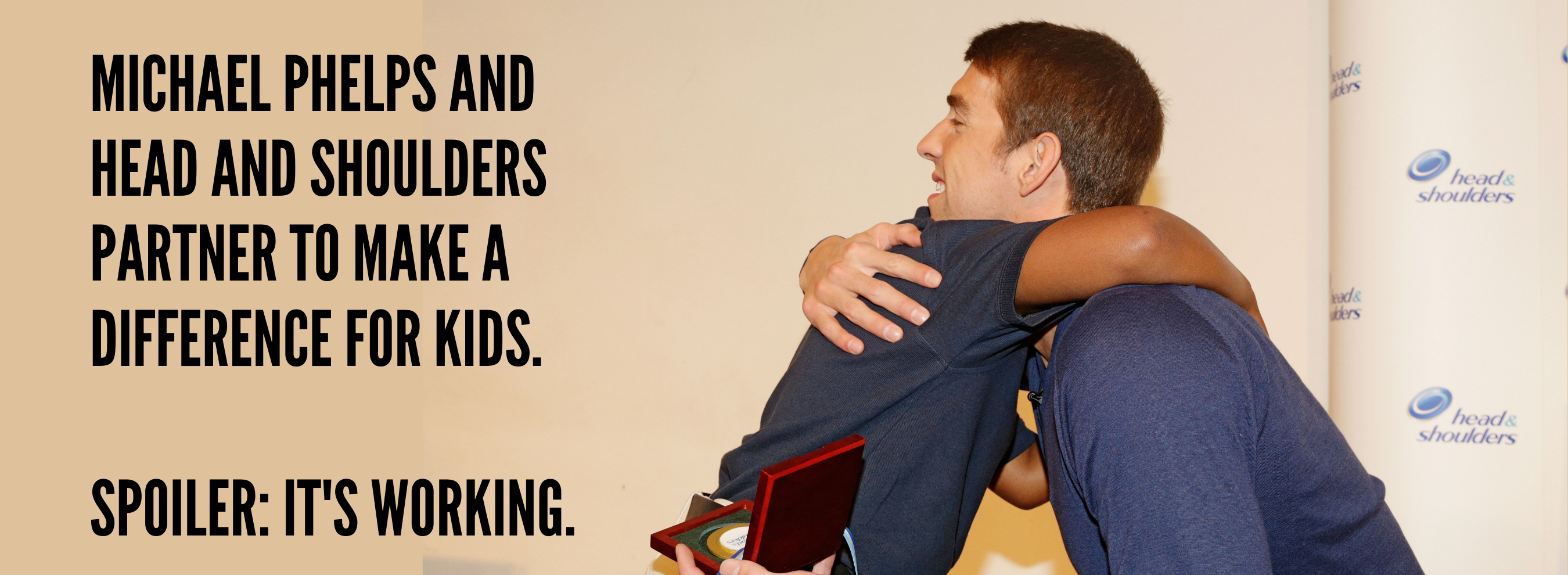 Michael Phelps showing love
